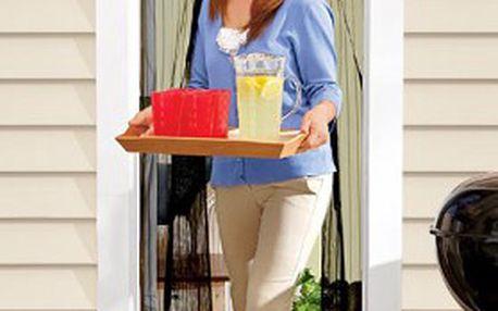 LIMITOVANÁ AKCE: Samozavírací MAGNETICKÁ SÍŤKA proti hmyzu, vyrobena z polyesterového vlákna, určena do dveří na terasu, balkon a zahradu!