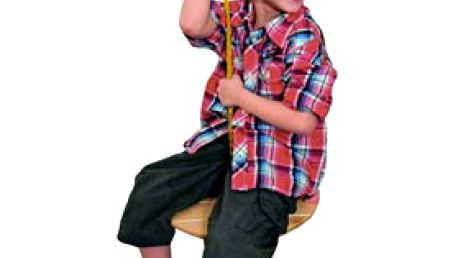 DŘEVĚNÝ HOUPACÍ TALÍŘ včetně provazu na uchycení – originální dětská hračka na doma i ven