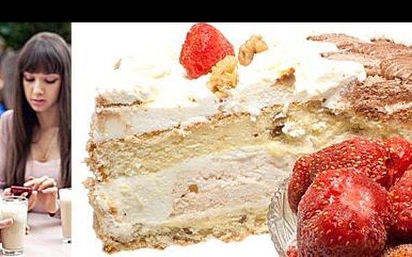 Zamlsejte si v Rajském kafíčku se slevou 59 %: Zhřešte a dopřejte si dvě výborná Lattissima a tři svěží zákusky se zmrzlinou a dvěma druhy šlehačky.