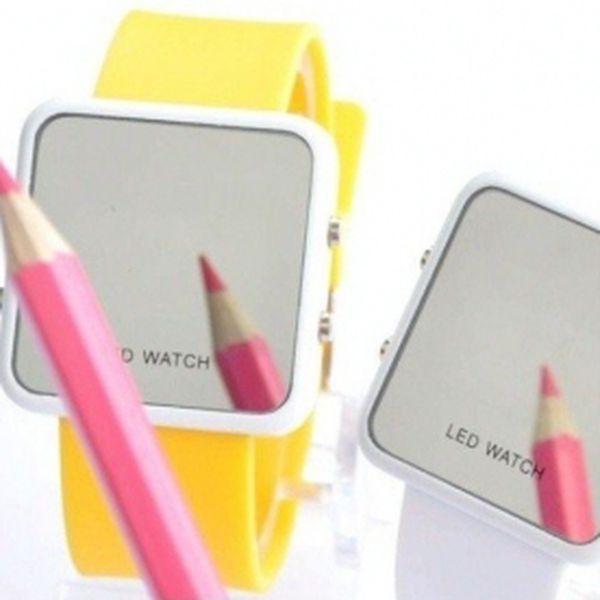 Zrcadlové silikonové led hodinky JELLY LED-WATCH za pouhých 99 Kč!