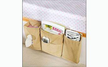 Organizér na postel za 125 Kč – praktické uložení telefonů, knih, časopisů a dalších drobností. Mějte všechny potřebné věci při sobě a v klidu relaxujte!