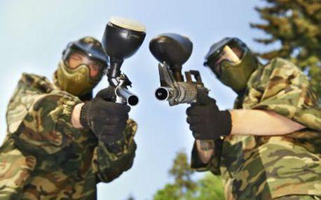 Adrenalinový paintball se slevou! Vstup na hřiště 4 hodiny, zbraň s pohonem, maska a služby organizátora v ceně!
