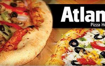 Nejlepší pizza v Olomouci! Akce 1+1 pizza zdarma! 2x výborná pizza (32 cm) dle vlastního výběru. Přijďte si pochutnat na křupavoučké pizze do známého baru ATLANT v centru Olomouce se slevou 50%!!!