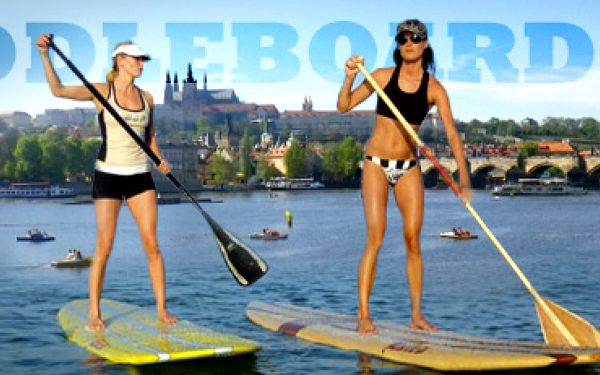 PROJÍŽĎKA NA PADDLEBOARDECH PO VLTAVĚ, 60 min. pro 2 osoby, nebo 120 min. pro 1 osobu za 249 Kč!! Vyzkoušejte nový vodní sport z Havaje, spojující zábavu a posilování celého těla!!