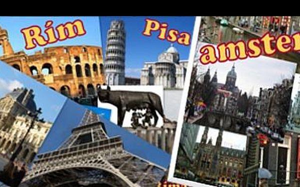Vydejte se za poznáním do Paříže, Říma nebo Amsterdamu luxusním autobusem na 4 dny se zajištěným noclehem, snídaní a službami průvodce za 3 533 Kč.