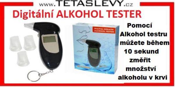 Digitální alkohol metr k vaší výbavě do auta za cenu 250kč poštovné zdarma