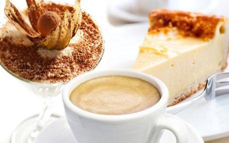 Presso a dezert za 19 Kč! Vychutnejte si výtečné kafíčko a cheesecake nebo tiramisu!