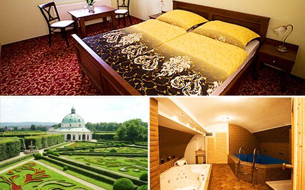 Wellness pobyt s polopenzí na 3 dny pro 2 osoby v hotelu U Zlatého kohouta v Kroměříži za 2688 Kč. Ubytování v nově zrekonstruovaném hotelu pro 2 osoby na 2 noci, denně snídaně a večeře, káva a zákusek, relaxace ve vířivce a sauně, 30% sleva na vstupenky do Arcibiskupského zámku a Květné zahrady.