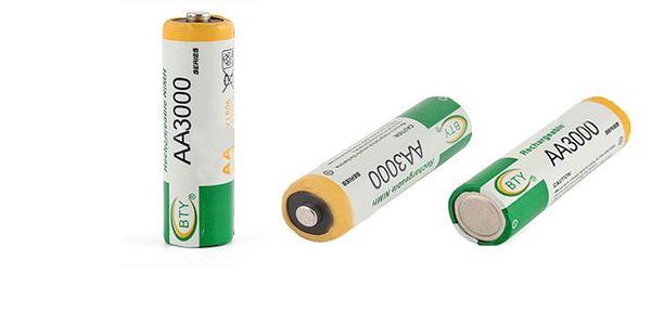 Nekupujte neustále dokola drahé baterie a pořiďte si kvalitní dobíjecí baterii velikosti AA, 1.2V 3000mAh Ni-MH se slevou 70% a ušetřete! Poštovné pouze 25 Kč!