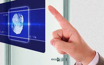 Biometrický zámek! Zapomeňte na svazek klíčů, který se snadno ztratí. Stačí váš prst!