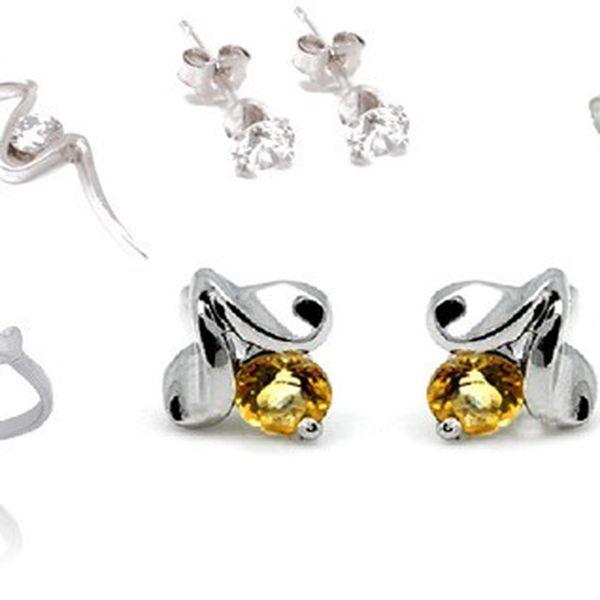 Luxusní šperky vyrobené ze stříbra 925/1000, kameny ze syntetických diamantů zirkonů a dokladem ryzosti nyní s 56% slevou!