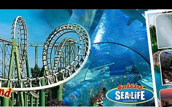 GARDALAND vás vítá. Zpestřete si konec prázdnin výletem do zábavního parku a užijte si horské dráhy, vodní atrakce nebo výlet do historie za 1 890 Kč včetně vstupu!
