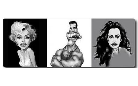 219 Kč za originální dárek! Nechte si vytvořit kvalitní karikaturu ve formátu 30x40cm od známého malíře s více ne...