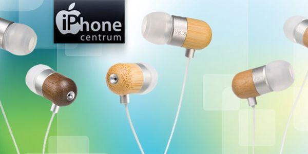Dřevěná sluchátka Vers pro váš iPhone nebo iPad