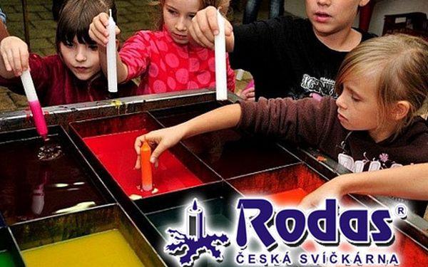 Prohlídka tradiční české svíčkárny Rodas
