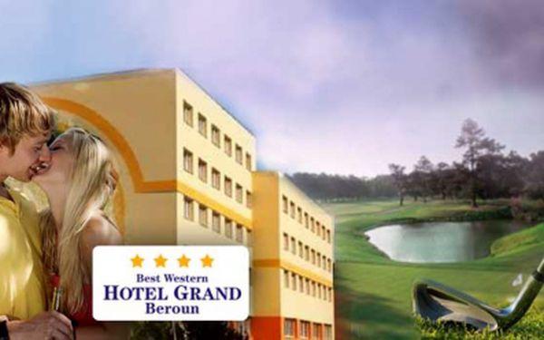 61% sleva na pobyt ve **** BW hotelu Grand v Berouně! Ubytování pro 2 osoby na 3 dny / 2 noci, snídaně + 1,5 hodina Crazy Golfu! Akční cena 1990 Kč !