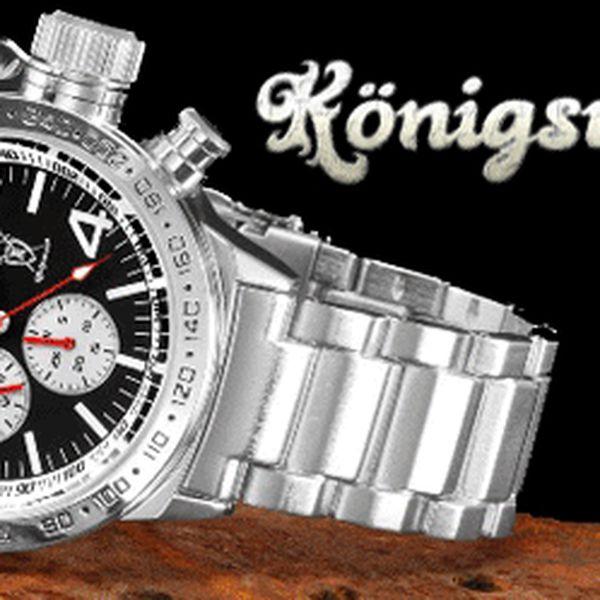 LUXUSNÍ pánské hodinky Licinius od KÖNIGSWERK za fantastických 690,- Kč! Detailní ruční zpracování. Kvalitní japonský quartz strojek Myiota, pouzdro a pásek z oceli! Na výběr ze šesti různých designů! Dárková krabička a garanční karta v ceně voucheru! Udělejte radost sobě nebo svým blízkým naší skvělou slevou 72%.