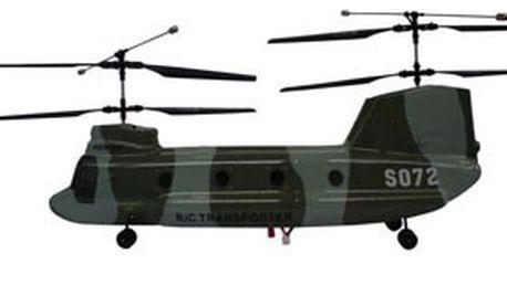 Poslední šance: model největší rc helikoptéry 9072 chinook cargo transport s plnou výbavou! Pro začátečníky i zkušené piloty