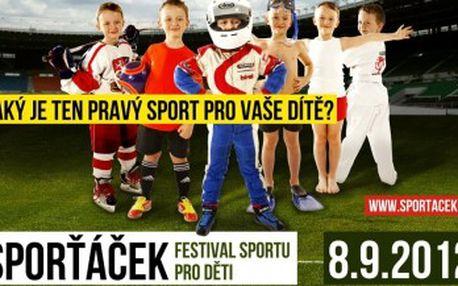Sporťáček - festival sportu pro děti!