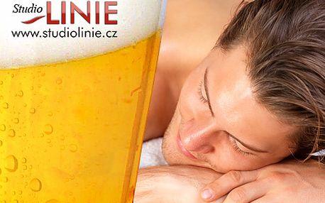Netradiční pivní masáž s koupelí v centru Brna