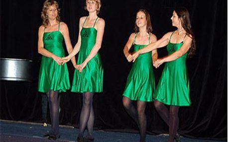 PŮLROČNÍ KURZ: IRSKÉ TANCE - Irské tance začínají být vnašich končinách velmi populární. Je znich cítit keltská minulost i duše drsných irských hor a vřesovišť. Nyní máte možnost naučit se keltské tance od jednodušších až po tance, ve kterých se stepuje. Kurzy vedou zkušení tanečníci pyšnící se mnoha mezinárodními oceněními.