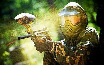 Celodenní paintball – zapůjčení bundy, zbraně, masky, rukavic, láhve s CO2, 200 kuliček