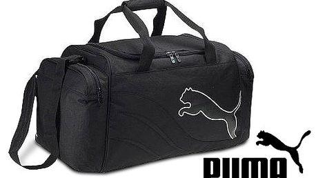 Velká sportovní taška PUMA Power Cat 5.10 Medium Bag, černá barva, odolný nepromokavý materiál
