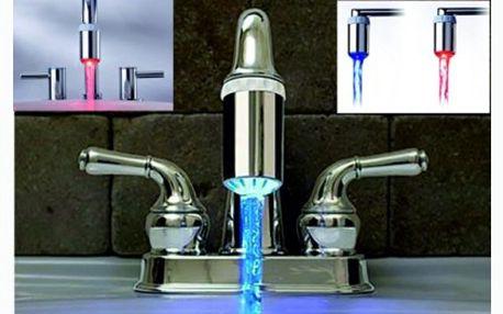 149 Kč za led nástavec na kohoutek. Designový doplněk a šikovný pomocník, jenž mění barvu vody dle její teploty.