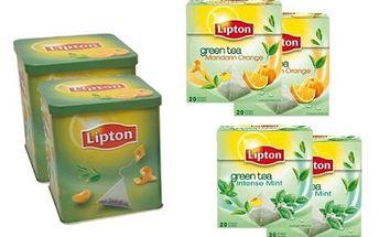 Rodinné balení čajů Lipton! 40 sáčků čistého zeleného čaje a 40 sáčků s ovocem!