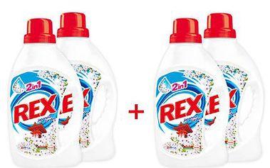 12 litrů pracího gelu Rex! Rozpouští se už při 30°C. Ušetříte 568Kč!
