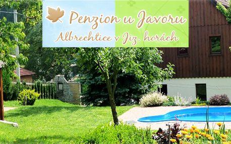 5 - denní pobyt pro dva v Jizerských horách s bazénem i grilováním!
