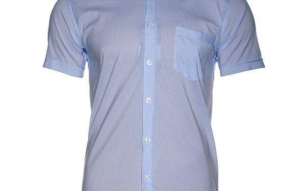 Pánská nebesky modrá košile Selected s krátkým rukávem