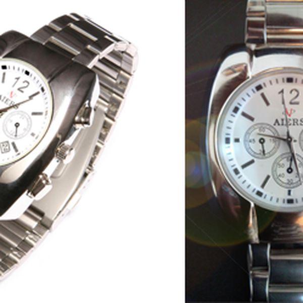 Krásné značkové hodinky AIERS ARS-818! Výborná kvalita za báječnou cenu 499,- Kč! Precizní zpracování, hodinový strojek QUARTZ s datumovkou, kovový pásek a vodotěsnost (3 ATM)! Neváhejte! Báječná sleva 64%!