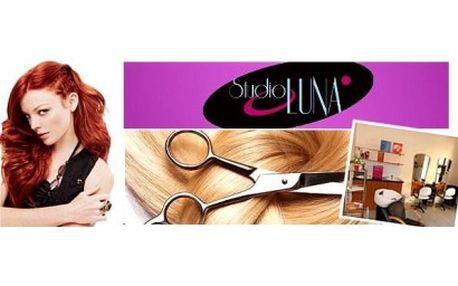 Dopřejte svým vlasům luxusní péči ve studiu LUNA v Brně. Kadeřnický balíček – mytí, regenerace, střih, foukan