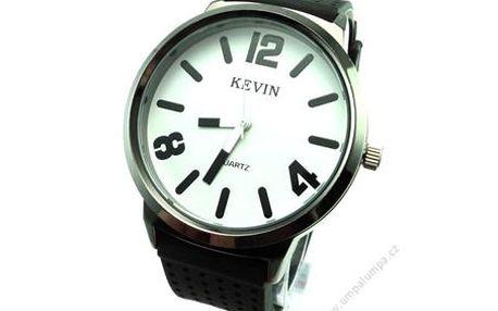 Stylové hodinky KEVIN - Stylové hodinky s výrazným a přehledným ciferníkem. Díky řemínku z kvalitního silikonu jsou vhodné jak na běžné nošení tak na sport. Nyní je můžete pořídit za skvělou cenu. Skvělý dárek pro partnera.