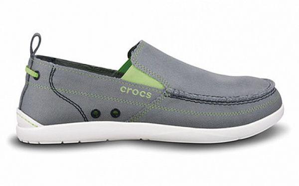 Šedé plátěné polobotky Crocs