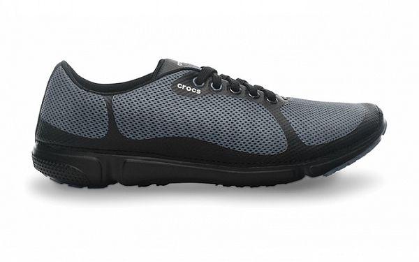 Pánské šedo-černé perforované tenisky Crocs