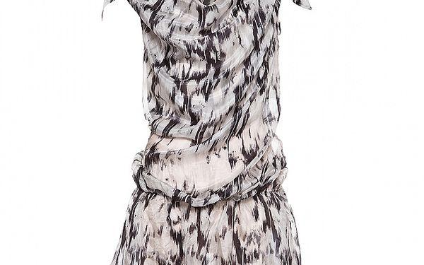 Dámský černostříbrný hedvábný top Miss Sixty