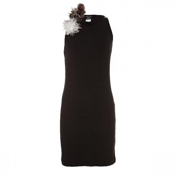 Dámské černé šaty Miss Sixty s ozdobnými růžemi