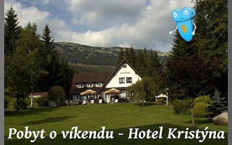 POBYT O VÍKENDU, Krkonoše, 2 osoby, 3 dny, polopenze, Hotel Kristýna, Špindlerův Mlýn! Krkonoše přímo vybízejí k procházkám a posezení pro romantické duše, k turistice, i cykloturistice. Pro krátké vydechnutí od pracovního stresu ideální dovolená pro všechny, kteří nechtějí trávit své prázdniny ve městě! Špindl, Krkonoše, hotel Kristýna = zábava, příroda, sport, pohodlí a sleva 44% !!!