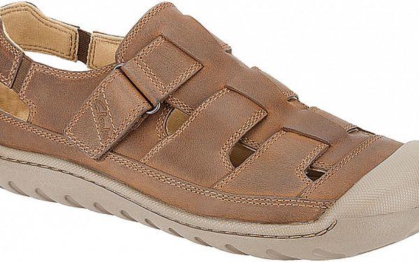 Pánské světle hnědé sandále Clarks