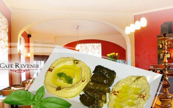 VEGETARIÁNSKÝ TALÍŘ PRO DVA (Baba ghanouj + Hummus + vinné listy plněné rýži) a k tomu VODNÍ DÝMKA za jedinečnou cenu 169 Kč! Přijďte do Café Revenir ochutnat speciality z Blízkého východu v centru Prahy!