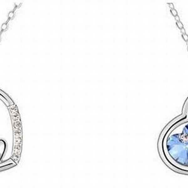 Nádherný náhrdelník tři srdce s krystaly swarovski elements - cena vč.poštovného!