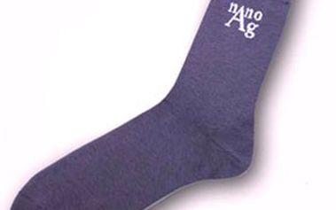 2 páry ANTIBAKTERIÁLNÍCH ponožek s nanočásticemi stříbra! Dámské i pánské velikosti, cena včetně poštovného