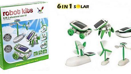 125 Kč za solární stavebnici robota SolarKit 6v1. Geniální hračka!