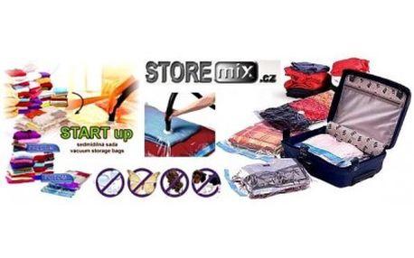 Ušetřete 75 % místa ve vašem šatníku s 57% slevou: Sada vakuových pytlů 5+2 vám pomůže uskladnit textilie, plyšov...