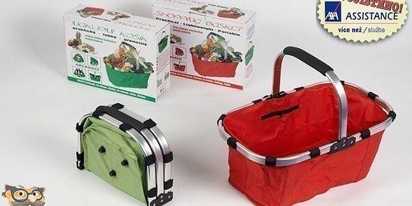 Praktický skládací košík vhodný na nákup, piknik a chalupu jen za 89 Kč