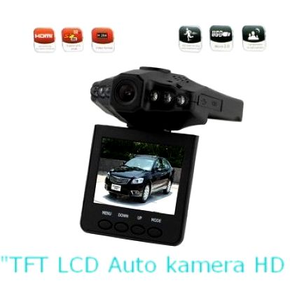 "799 Kč za 2,5 ""TFT LCD Auto kameru HD DVR"