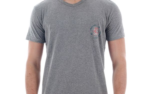 Pánské světle šedé melírované tričko Freesoul s potiskem