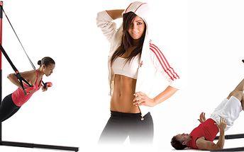 Závěsný posilovací systém MTS buduje svalovou sílu, rovnováhu, flexibilitu atd.
